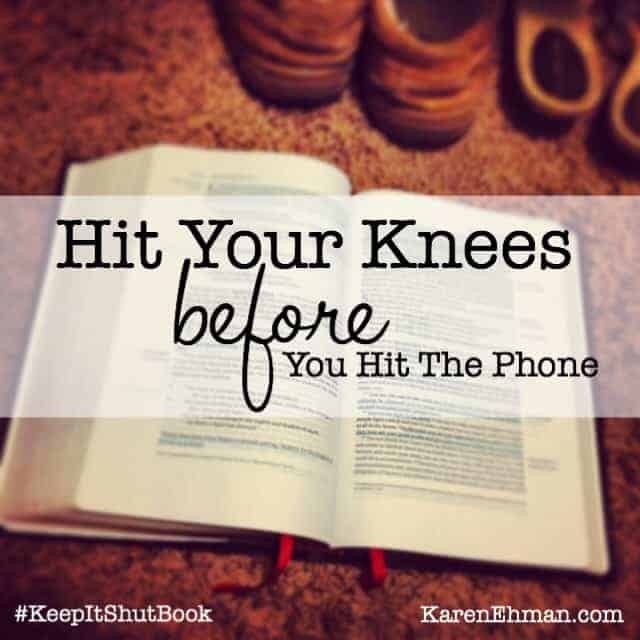 On Hitting Your Knees BEFORE You Hit the Phone