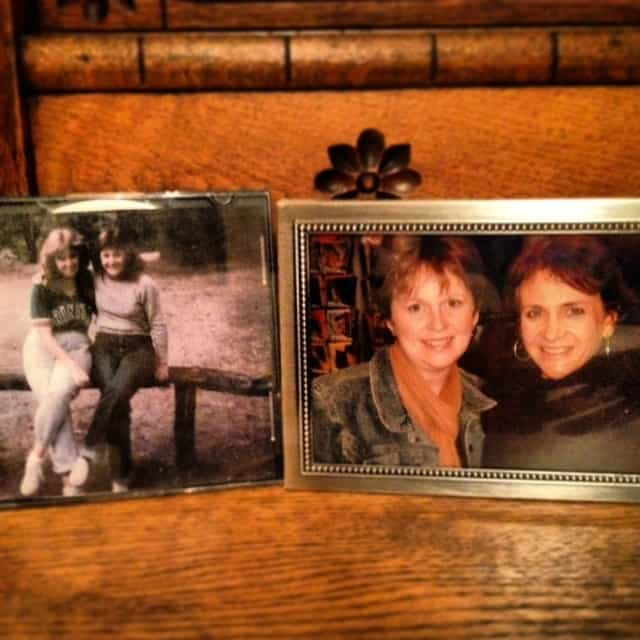 A retro picture of Kelly and me from 1982 and one of us from about a year or two ago.