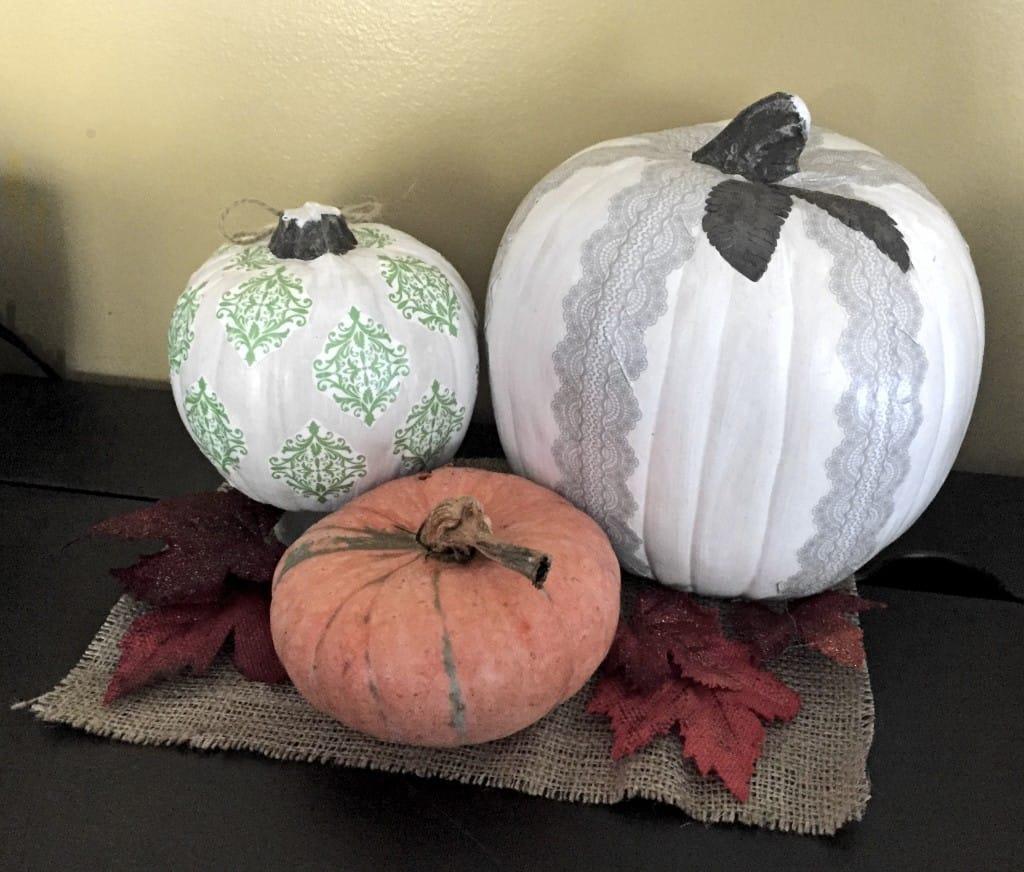 DIY Weekend Craft: Decoupage Pumpkins