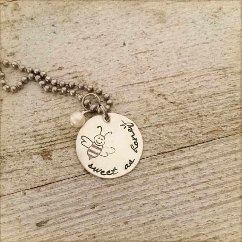 """Win a Proverbs 16:24 """"Sweet As Honey"""" Necklace from The Rusted Chain"""