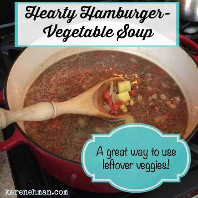 Hearty Hamburger-Vegetable Soup