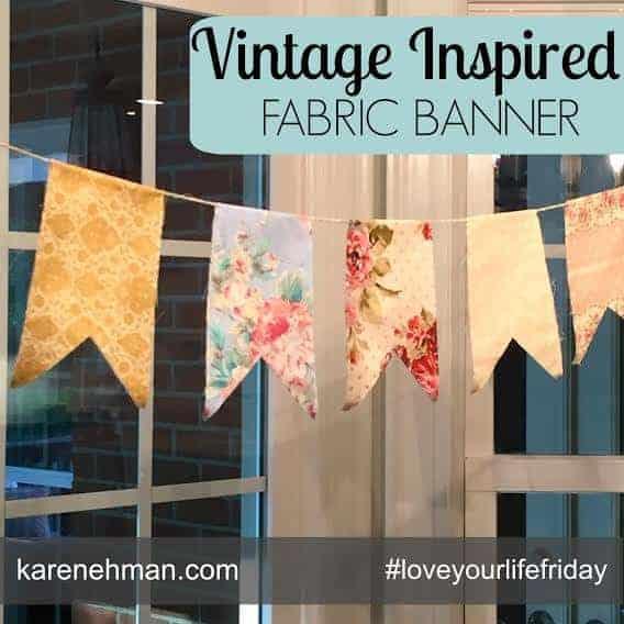 DIY Vintage Inspired Banner