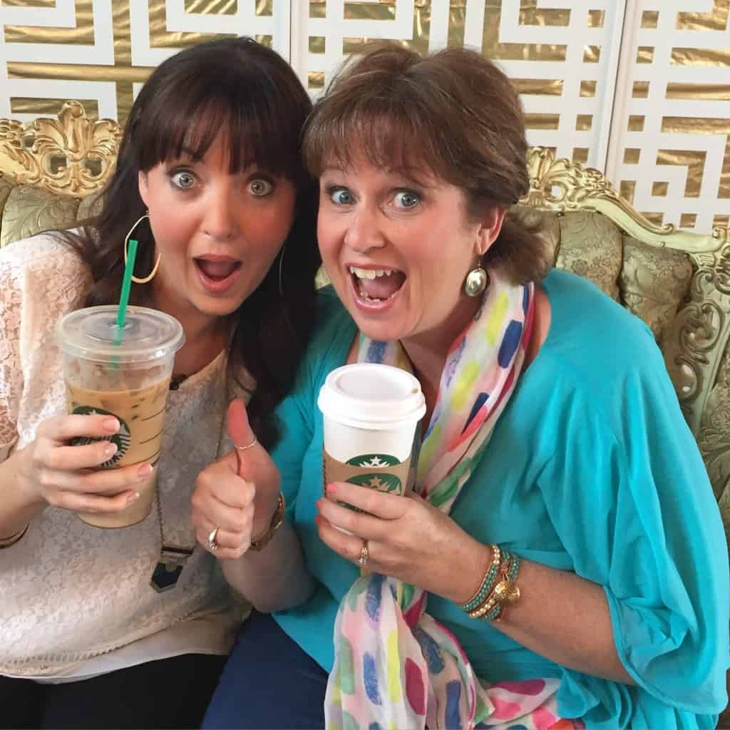 Ruth and me after filming the six session Hoodwinked Bible study. We had so much fun doing this project and can't wait for it to encourage moms!