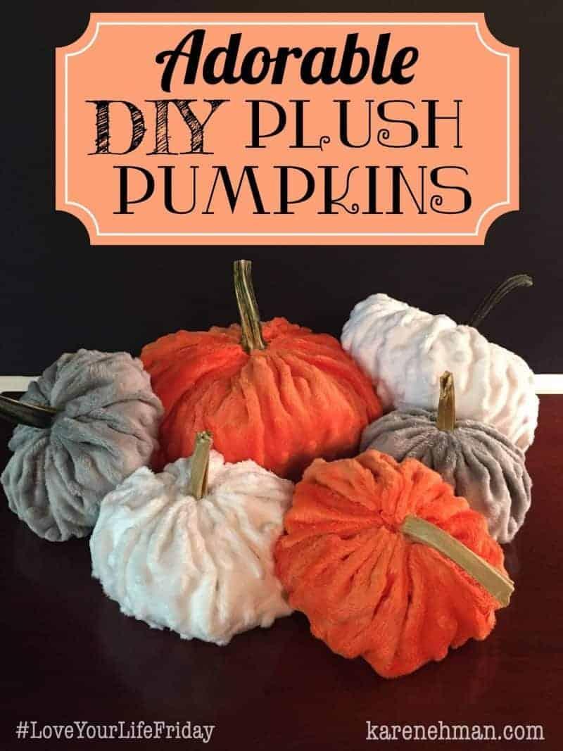ADORABLE DIY Plush Pumpkins