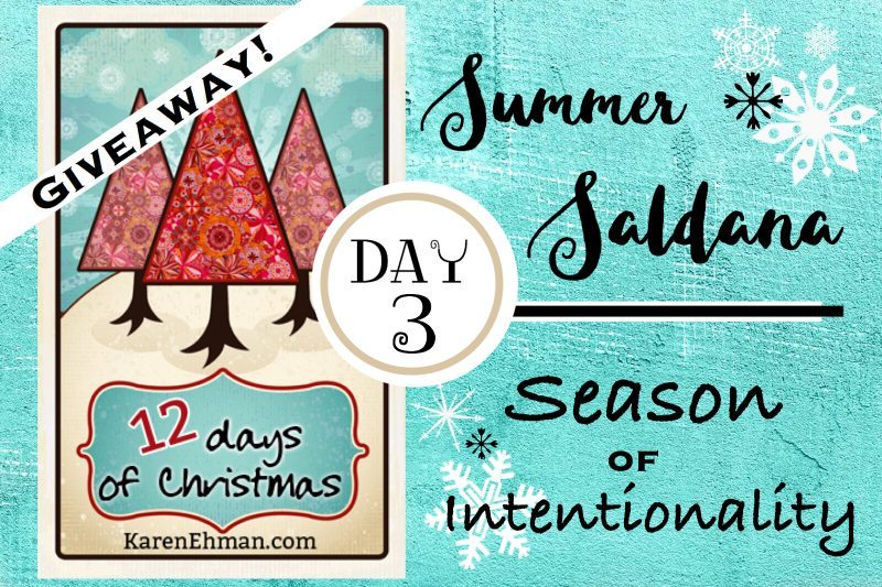 3rd Day of Christmas Giveaways with Summer Saldana
