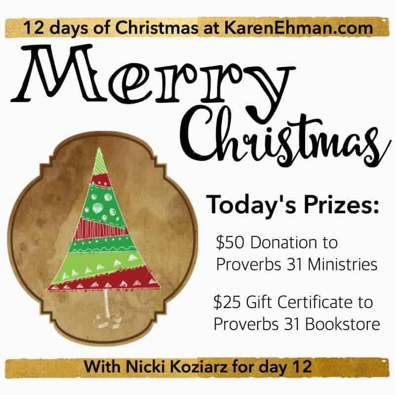 12th Day of Christmas Giveaways with Nicki Koziarz
