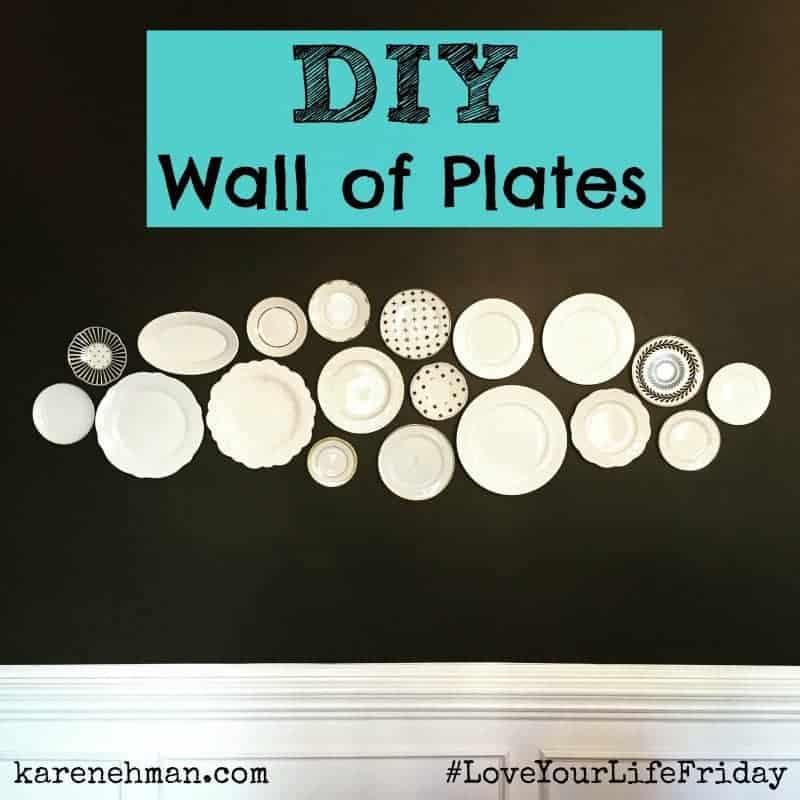 DIY Wall of Plates