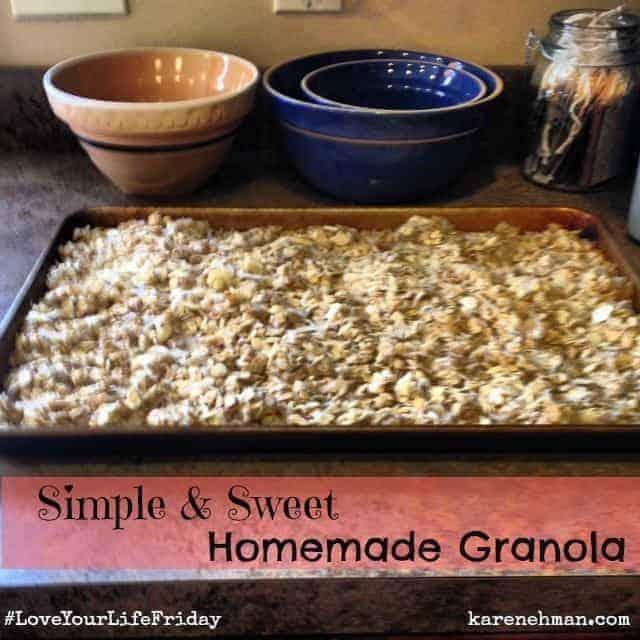 Simple & Sweet Homemade Granola