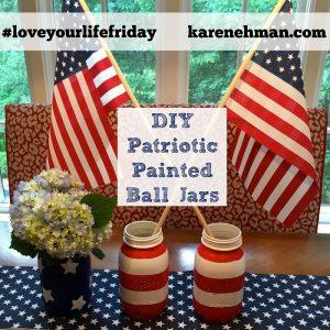 DIY Patriotic Painted Ball Jars at karenehman.com.