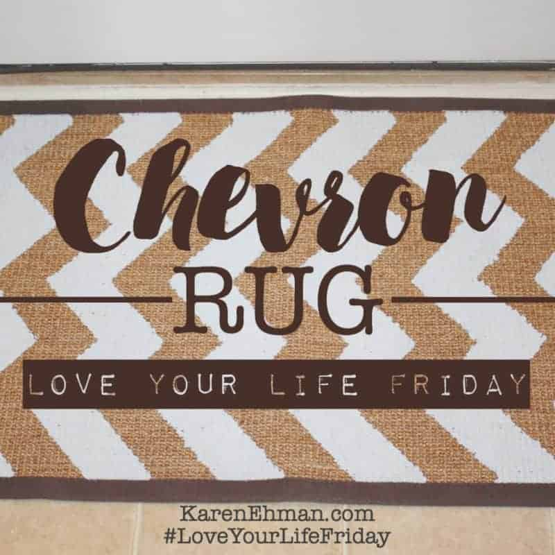 Love Your Life Friday with Chessa Moore: Chevron Rug