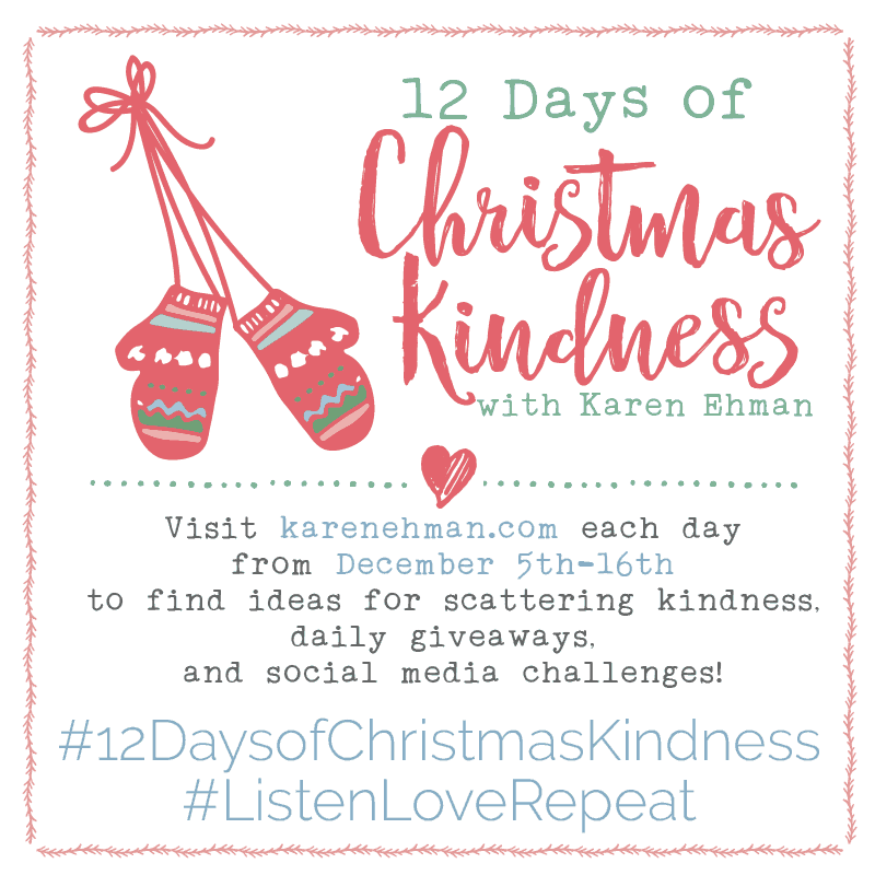 COMING NEXT WEEK! 12 Days of Christmas Kindness GIVEAWAYS!!!
