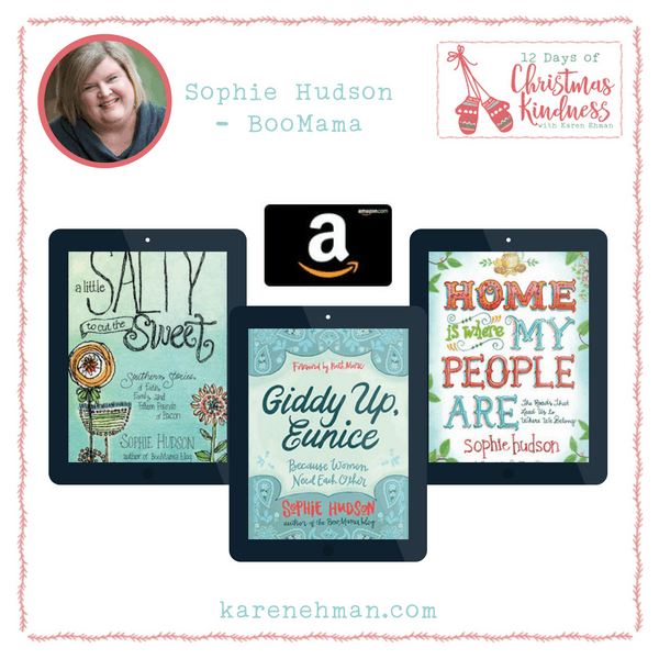12 Days of Christmas Kindness Giveaways with Karen Ehman and Sophie Hudson - BooMama.