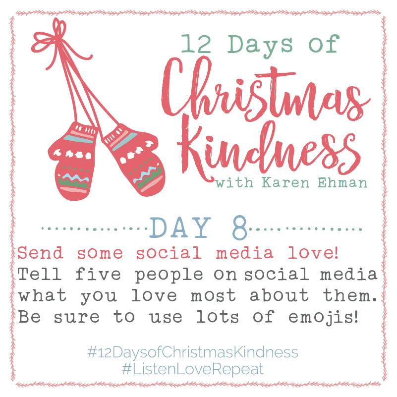 12 Days of Christmas Kindness – Day Eight