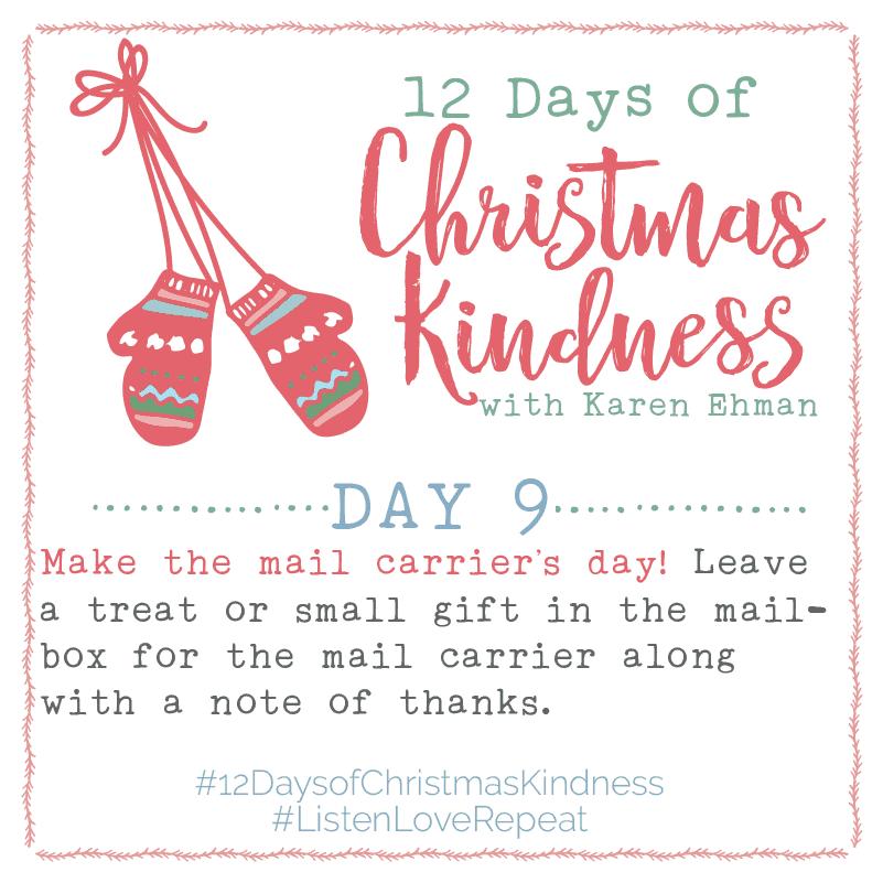 12 Days of Christmas Kindness – Day Nine