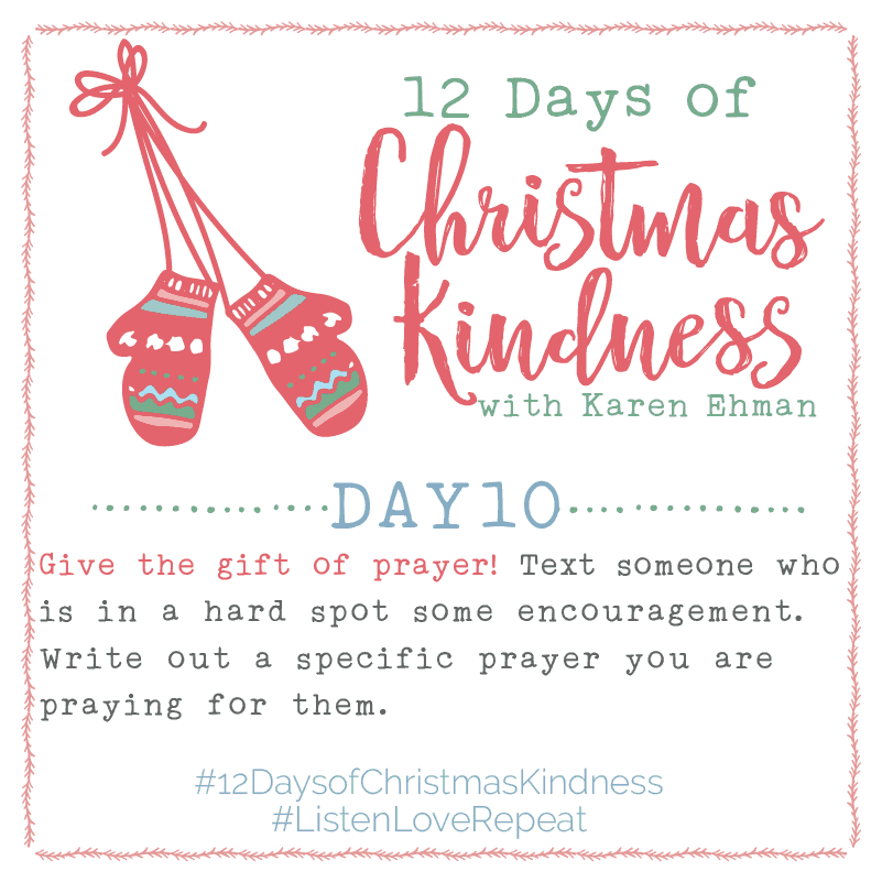 12 Days of Christmas Kindness – Day Ten