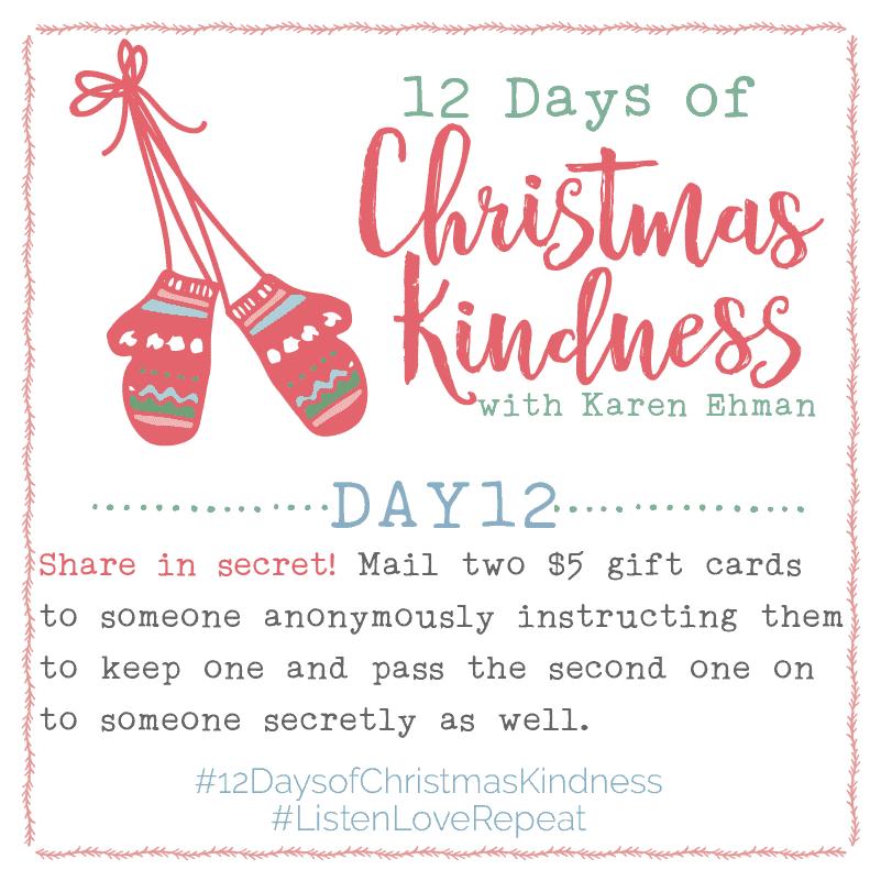 12 Days of Christmas Kindness – Day Twelve