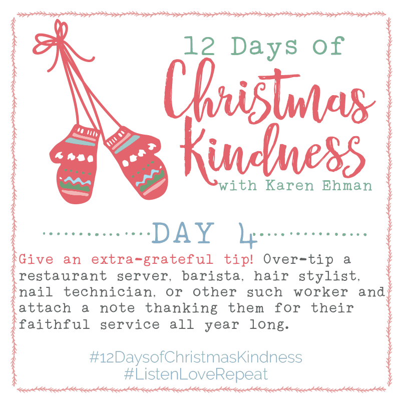 12 Days of Christmas Kindness – Day Four