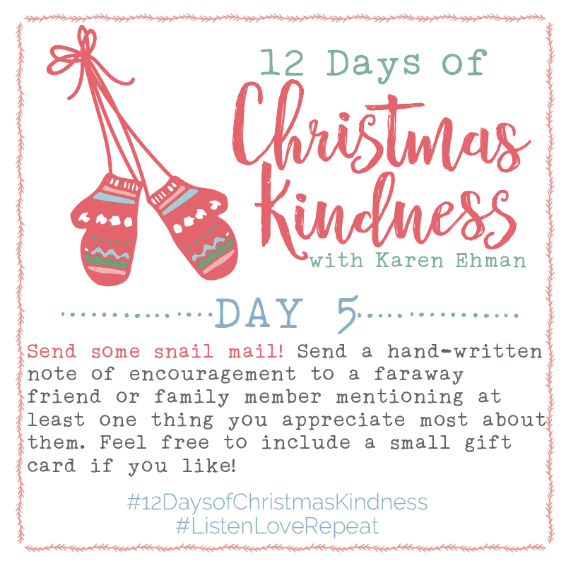 12 Days of Christmas Kindness – Day Five