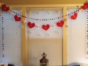 DIY Conversation Heart Garland for Love Your Life Friday at karenehman.com. Click here for tutorial just in time for Valentine's Day!