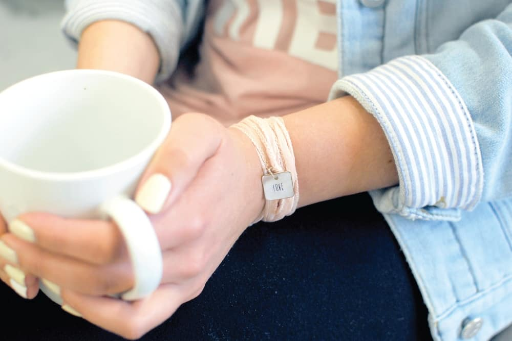 LOVE wrap bracelet at Proverbs 31 Ministries. 10 Gifts she'll love at karenehman.com.