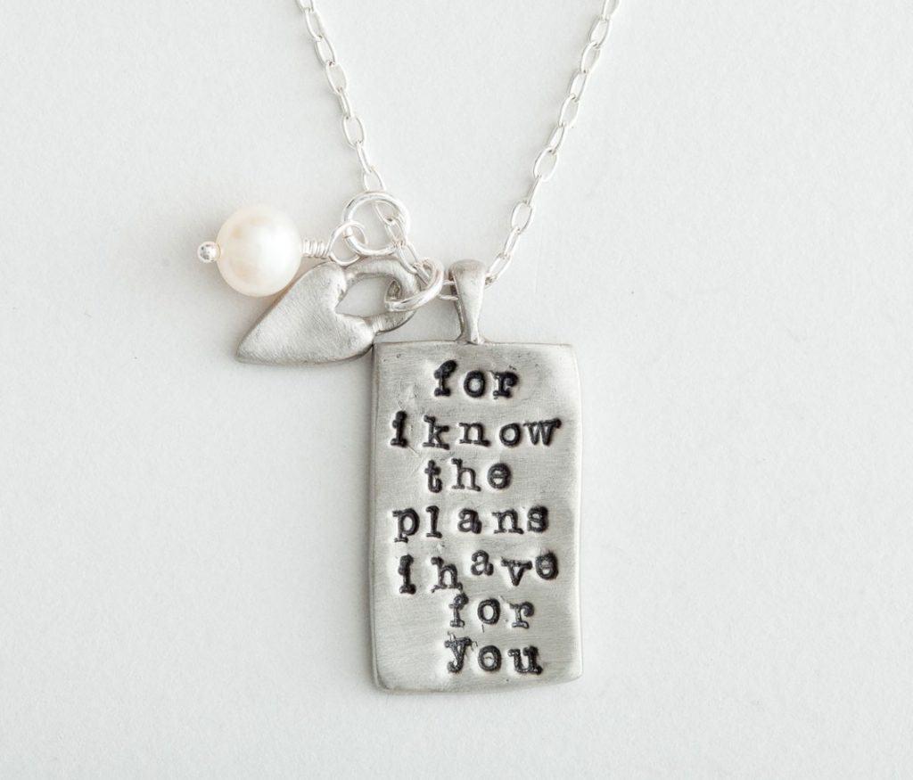 Dayspring Jeremiah 29:11 necklace.10 Gifts She'll Love at karenehman.com.
