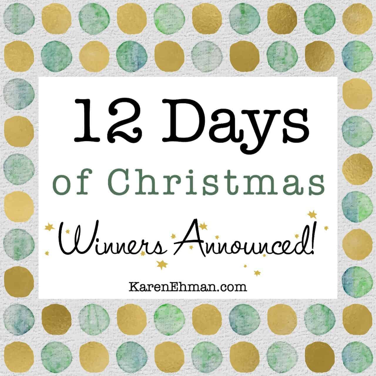 Winners Announced – 12 Days of Christmas Giveaways