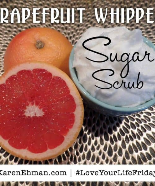 Grapefruit Whipped Sugar Scrub by Sarah Lundgren for #LoveYourLifeFriday at karenehman.com.