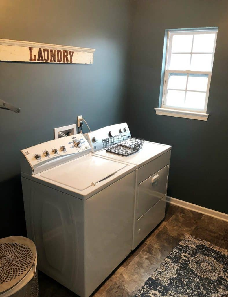 Laundry Room Makeover with pictures by Nikki McCullough for #LoveYourLifeFriday at karenehman.com.