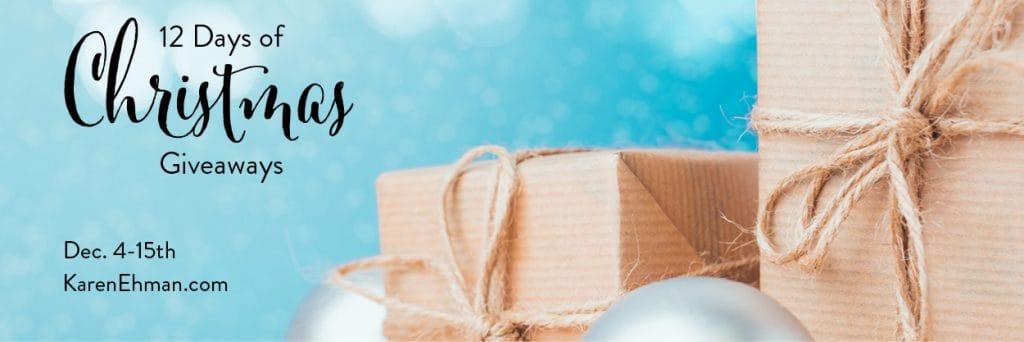 12 Days of Christmas Giveaways 2018 at karenehman.com.