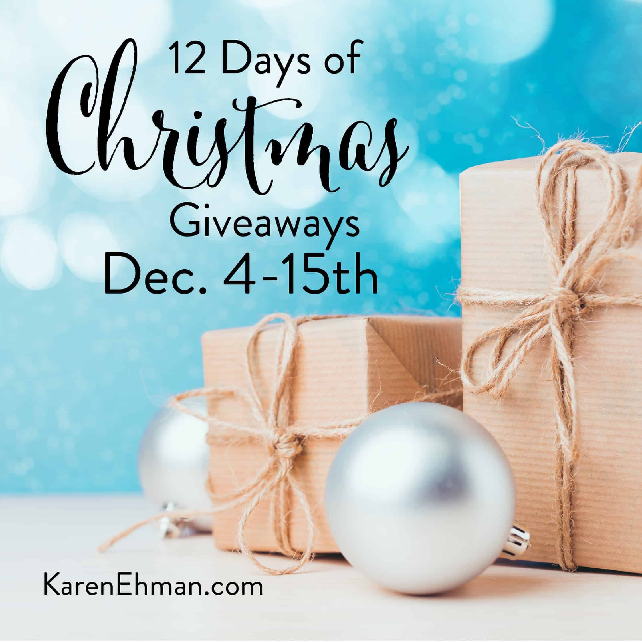 12 Days of Christmas Giveaways starts December 4!