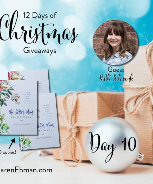Enter to win Day 10 of 12 Days of Christmas Giveaways with Ruth Schwenk at karenehman.com.