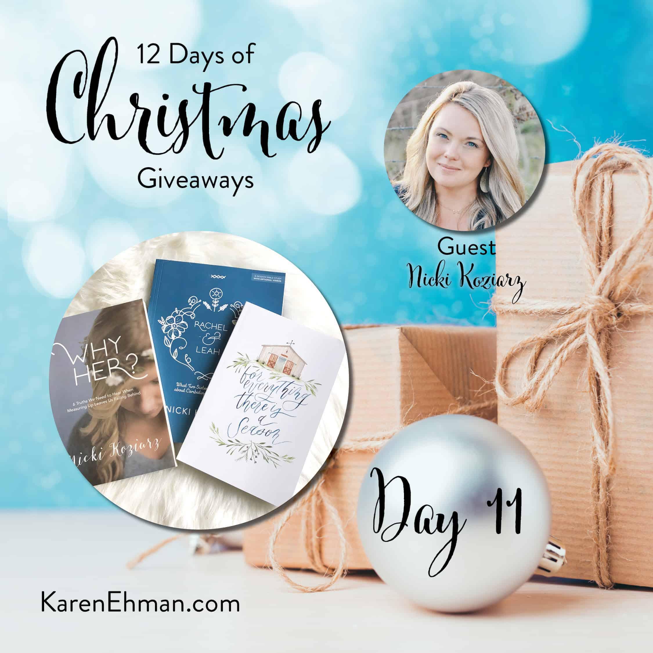 Day 11 of 12 Days of Christmas Giveaways (with Nicki Koziarz)