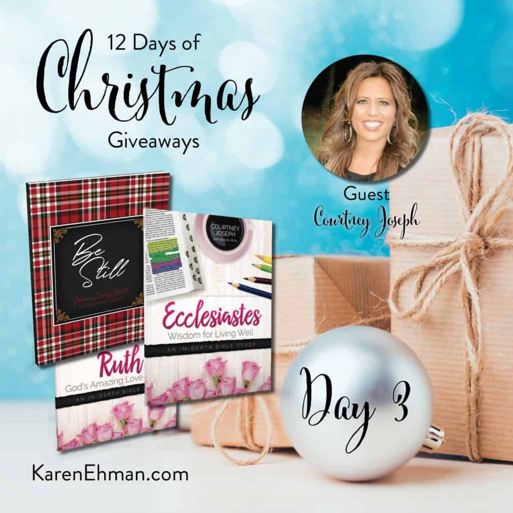 Enter to win Day 3 of 12 Days of Christmas Giveaways with Courtney Joseph at karenehman.com.