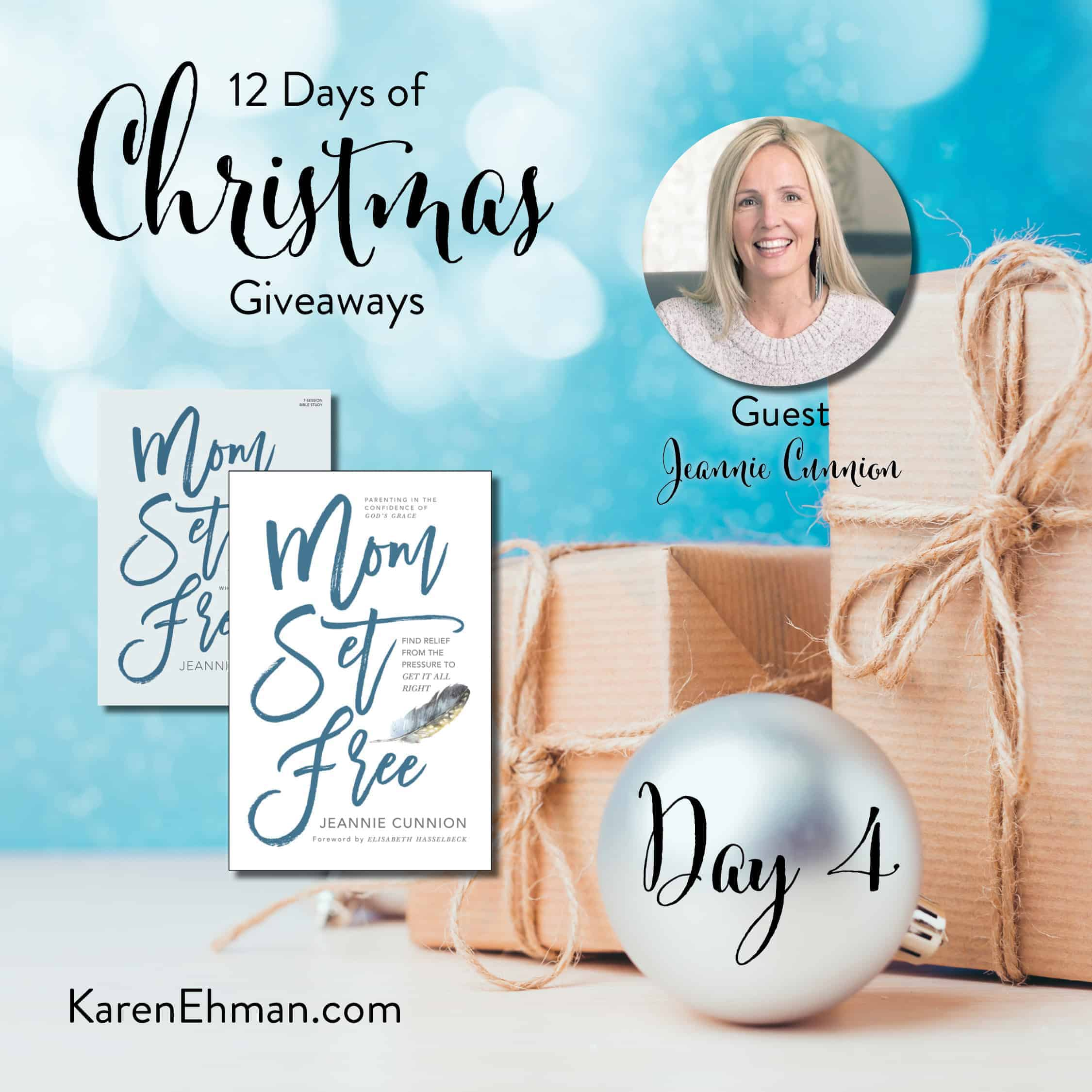 Day 4 of 12 Days of Christmas Giveaways (with Jeannie Cunnion)