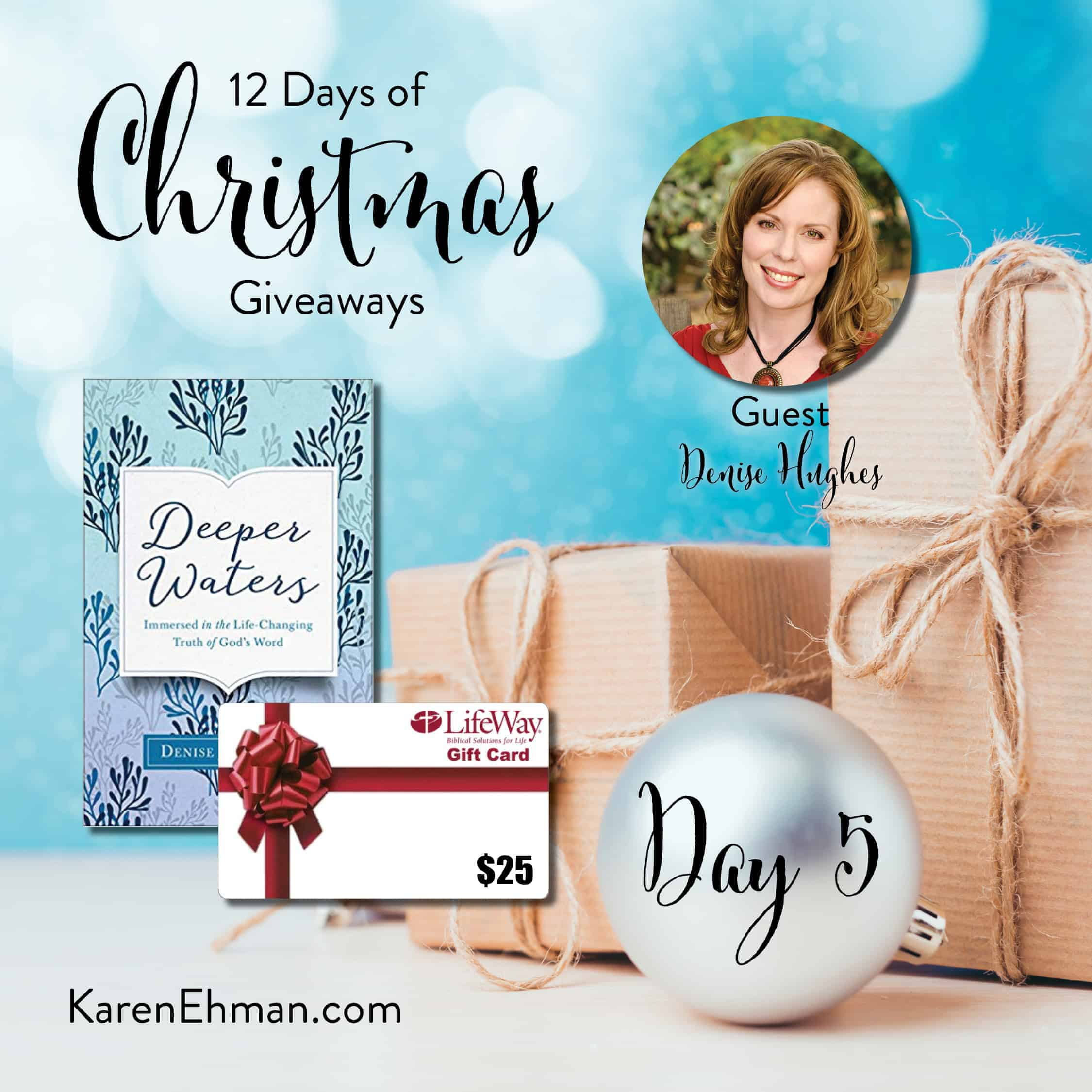 Day 5 of 12 Days of Christmas Giveaways (with Denise Hughes)