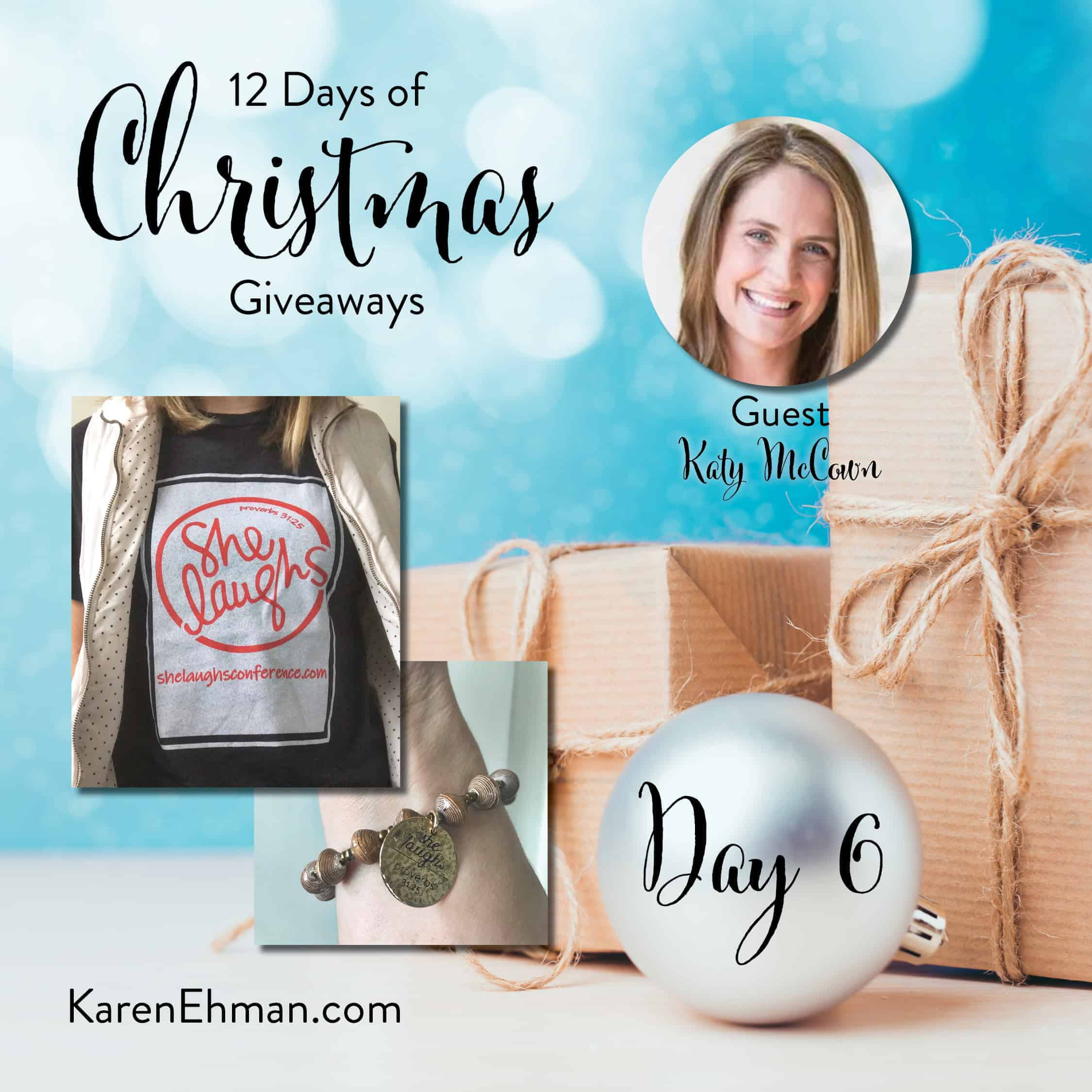 Day 6 of 12 Days of Christmas Giveaways (with Katy McCown)