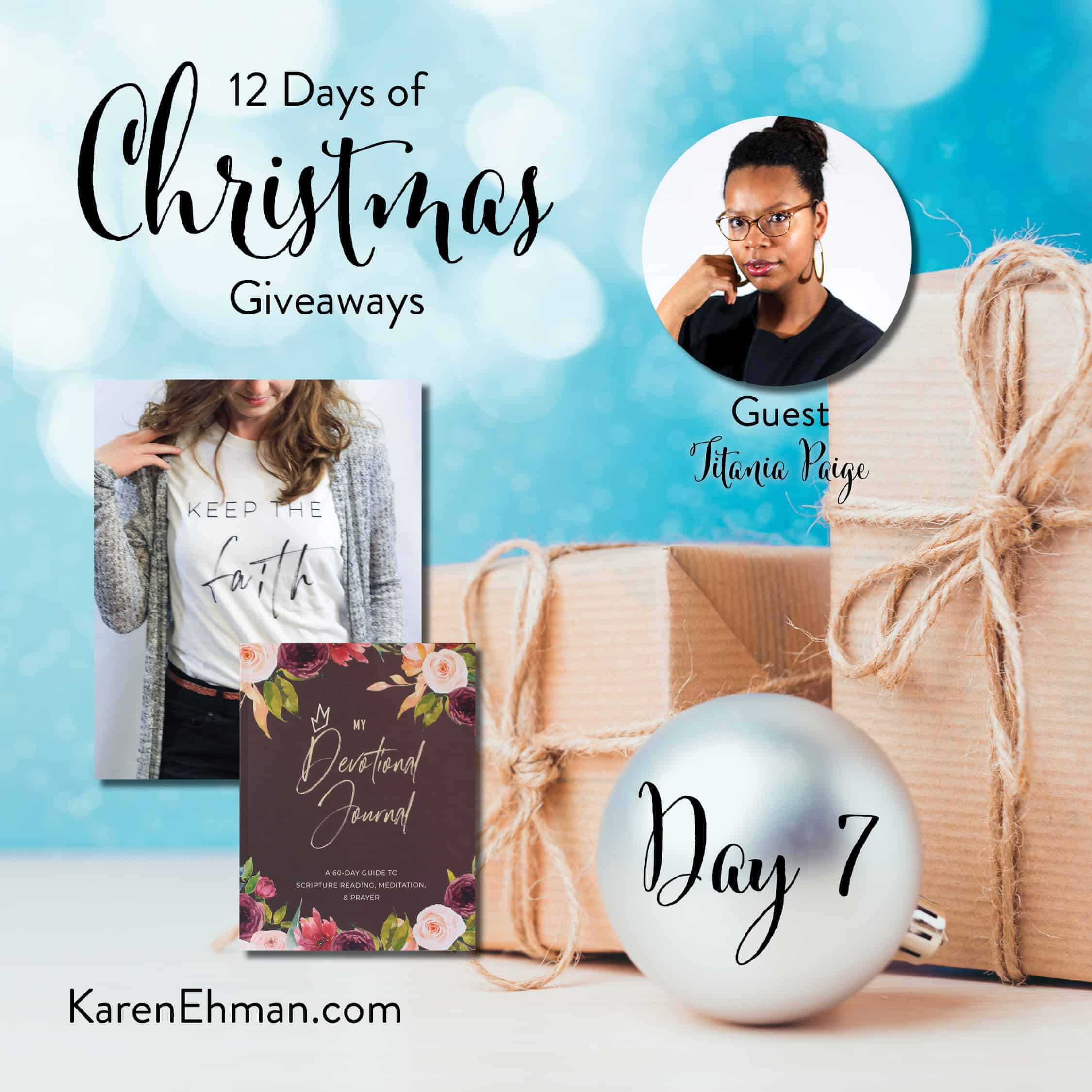 Day 7 of 12 Days of Christmas Giveaways (with Titania Paige)