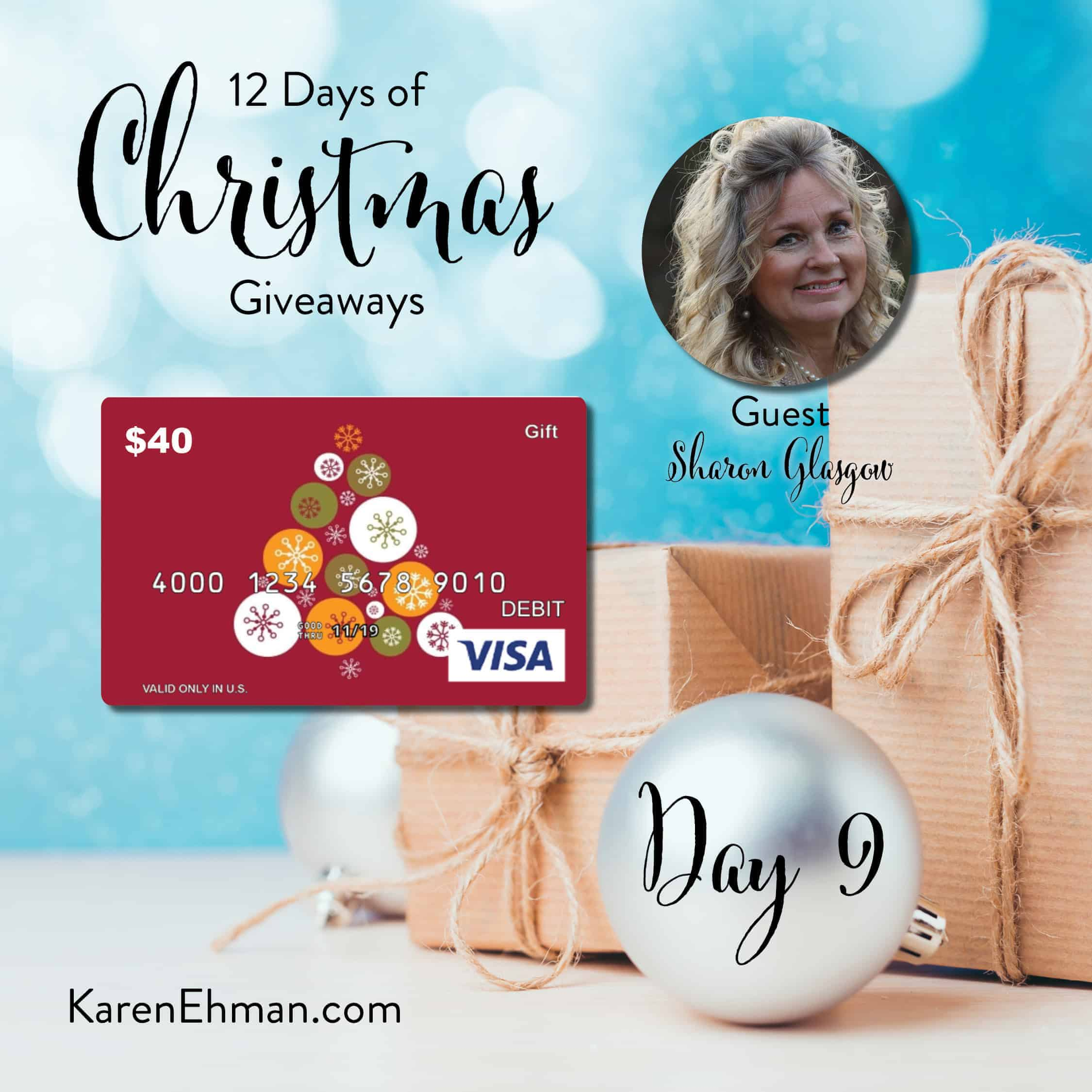 Day 9 of 12 Days of Christmas Giveaways (with Sharon Glasgow)