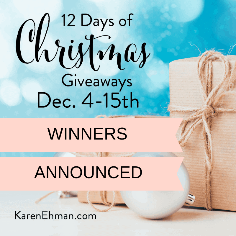 Winners Announced for 12 Days of Christmas Giveaways!