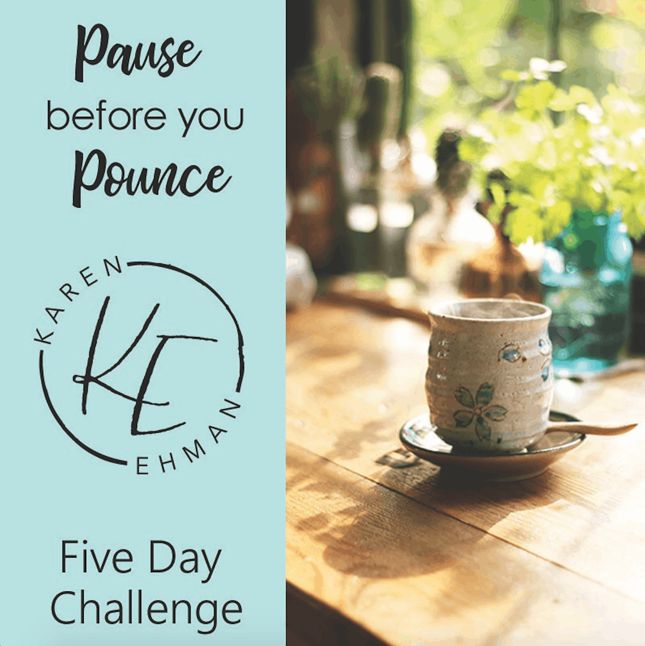 Pause Before You Pounce 5-Day Challenge at karenehman.com.