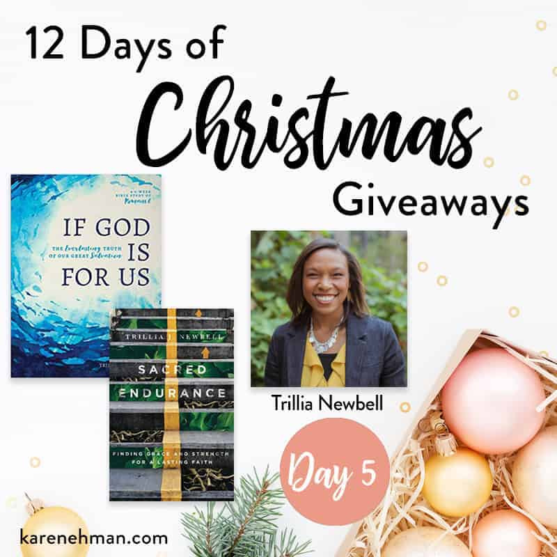 Day 5 of 12 Days of Christmas Giveaways (with Trillia Newbell)