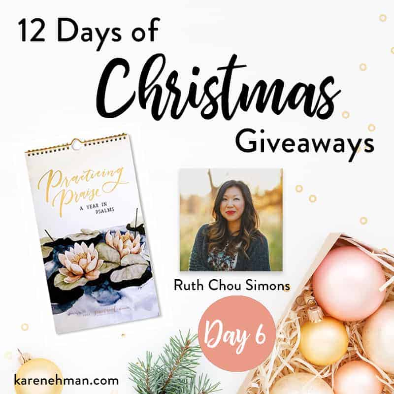 Day 6 of 12 Days of Christmas Giveaways (with Ruth Chou Simons)