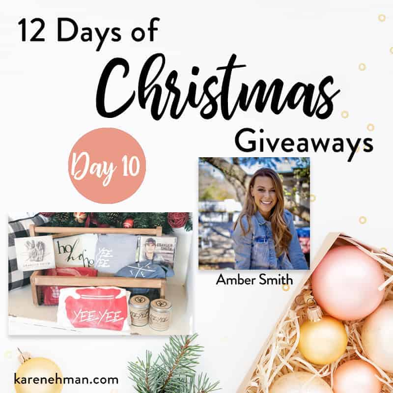 Day 10 of 12 Days of Christmas Giveaways (with Amber Smith)