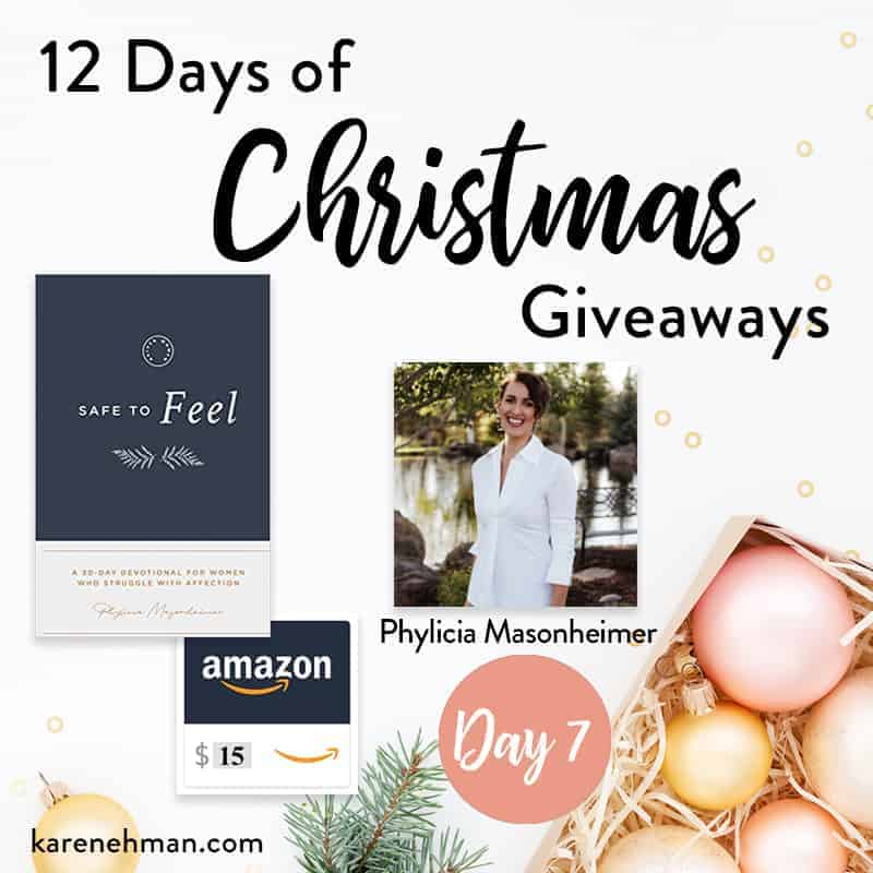 Day 7 of 12 Days of Christmas Giveaways (with Phylicia Masonheimer)