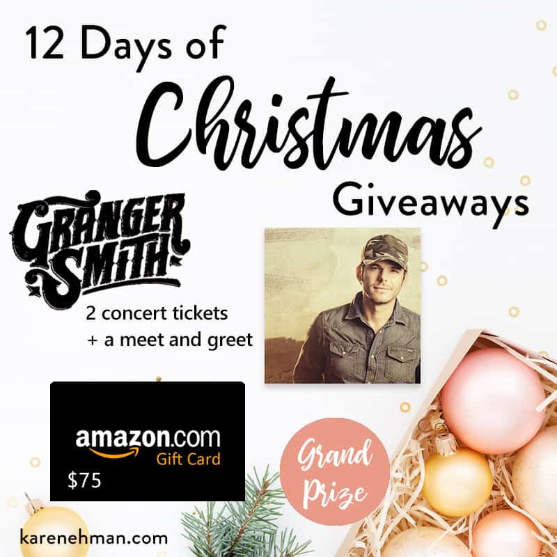Grand Prize // 12th Annual 12 Days of Christmas Giveaways 2019 at karenehman.com.