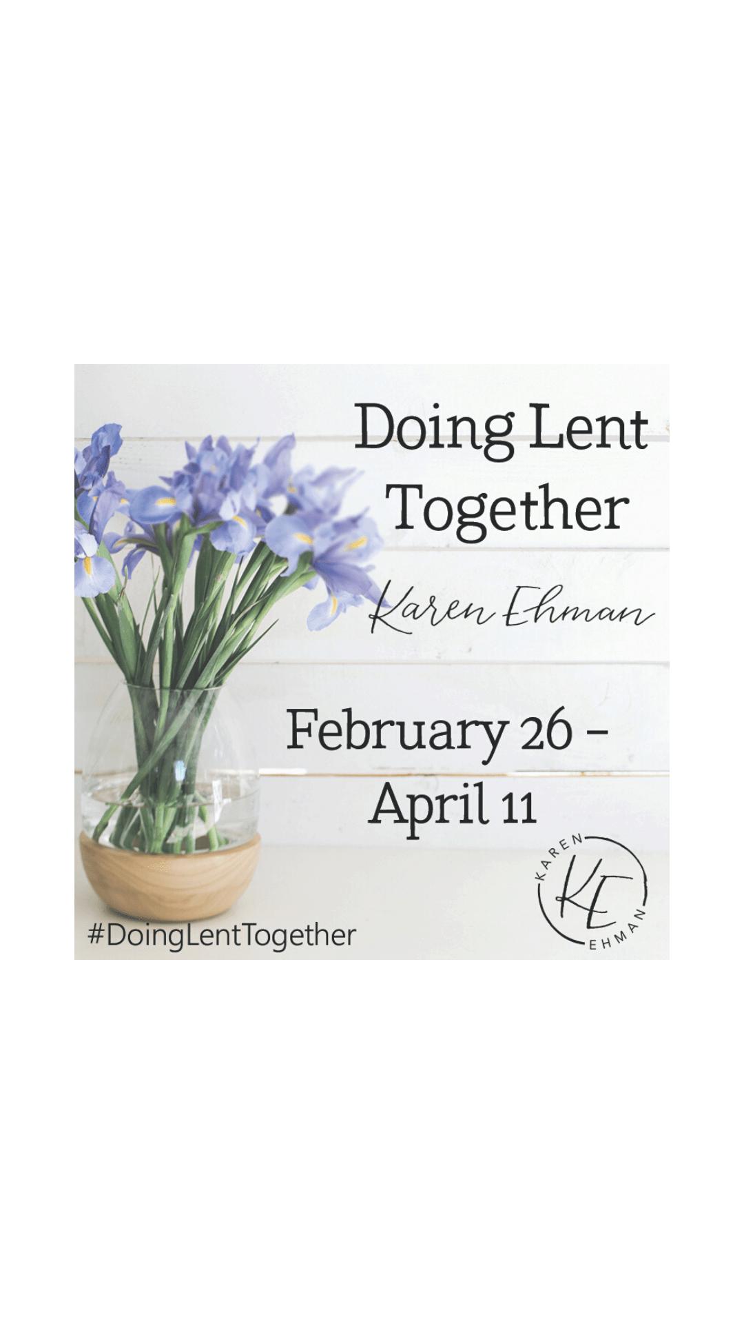 Doing Lent Together