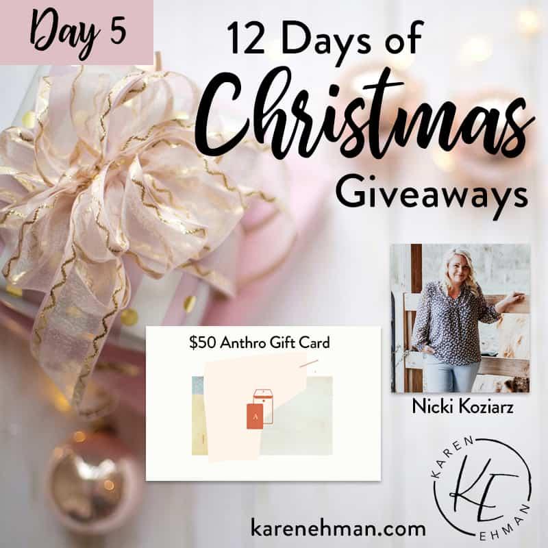 Day 5 of 12 Days of Christmas! (with Nicki Koziarz)