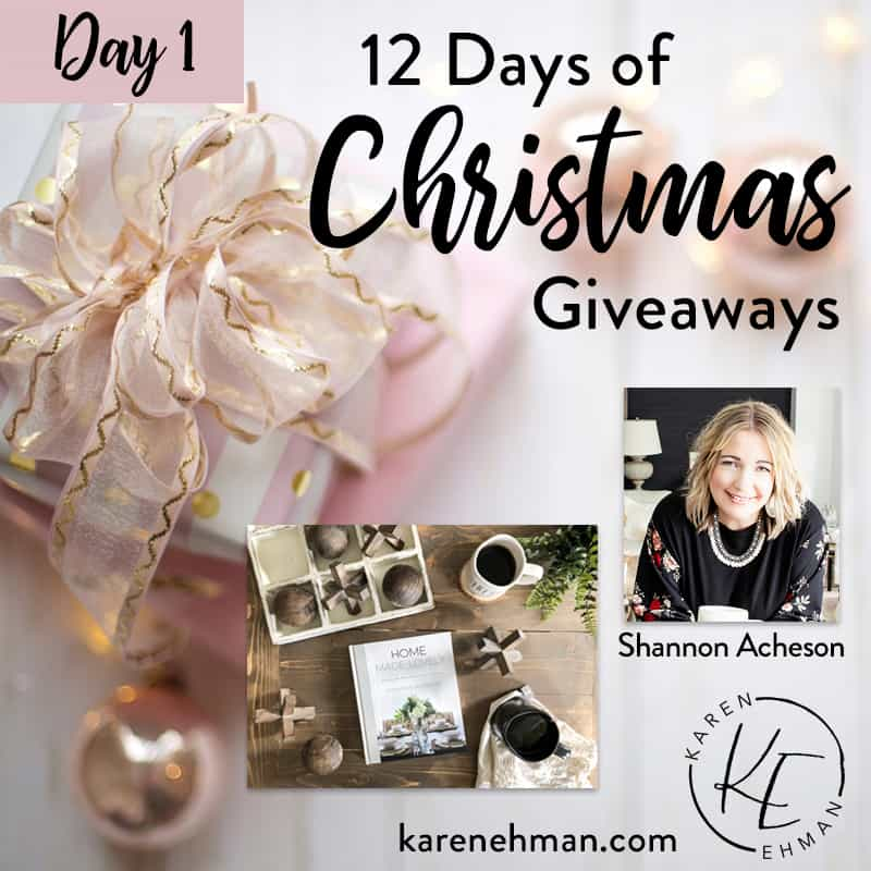 Day 1 of the 12 Days of Christmas Giveaways! (with Shannon Acheson)