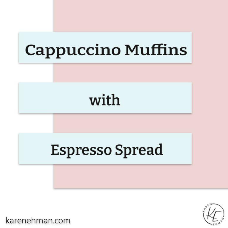 Cappuccino Muffins with Espresso Spread