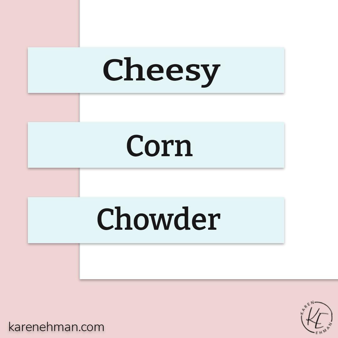 Cheesy Corn Chowder